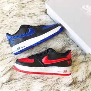 Nike Air Force 1 Lv8 Black Multi-Color Red Blue